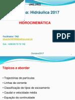 Hidraulica Hidrocinematica - 2017 Outubro