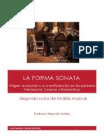 La Forma Sonata- Apuntes y Partituras.