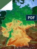 Mapa Fisico de Alemania 776x1024