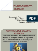 Control Del Talento Humano