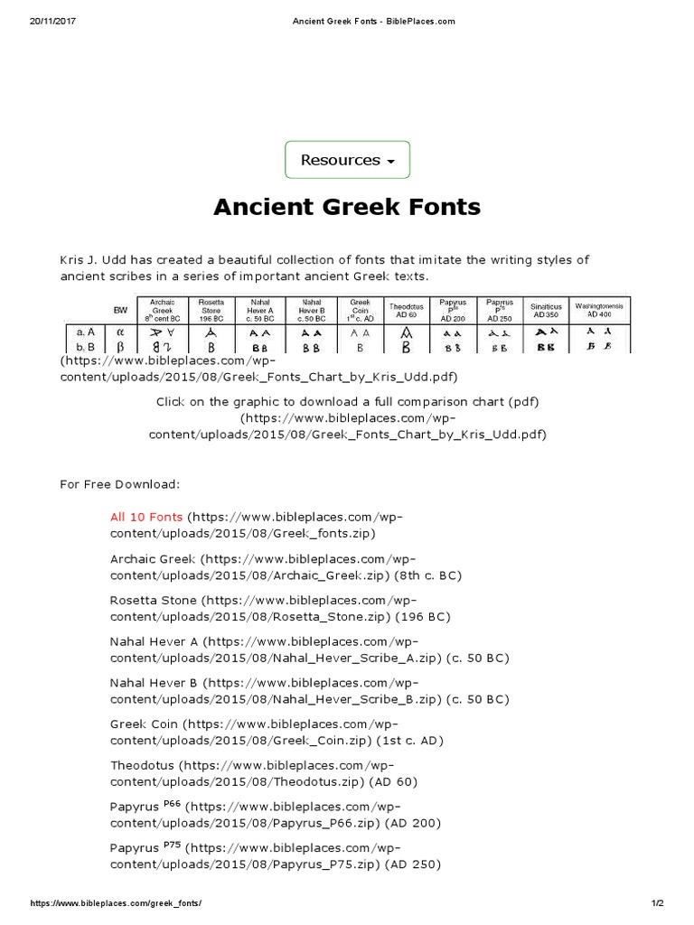 Ancient Greek Fonts | System Software | Software