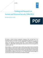 Gasper, Des & Gómez, Oscar a. - 2014 - Evolution of Thinking and Research on Human and Personal Security