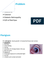 Common Eye Problem Corneal Ulcer, Glaucoma, Cataract, Diabetic Retinopathy, DD of Red Eyes