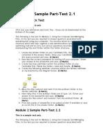 Module 2 Sample Part.doc