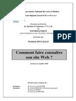 Comment Faire Connaitre Son Site Web - Oral Probatoire 2002