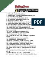 Las 100 Mejores Canciones Con Guitarra