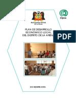 Plan de Desarrollo Economico La Arena