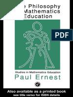 [Ernest, Paul] the Philosophy of Mathematics Educa(BookFi) (1)