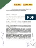 Acuerdo  Grupo de Trabajo Seguridad Privada (Gobierno, sindicatos, patronal)