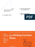 5 4 writing a function rule presentation slides