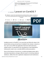 Install Laravel on CentOS 7 – RoseHosting Blog