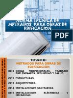 2Unidad I METRADOS, Obras Provisionales y Estructuras