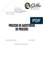 Proceso Auditoria de Proceso