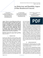 A Review on Shear Behavior and Durability Aspect of Hybrid Fibre Reinforced Concrete