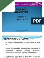 SURVEYING - CHAPTER 4 (THEODOLITE)