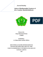 Characterization of Radiographic Features of Consecutive Lumbar Spondylolisthesis