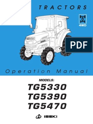 Tg5390-5470 Operation Manual | Tractor | Manual Transmission