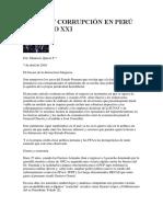 Estado y Corrupción en Perú Del Siglo Xxi