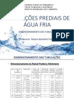 Aula 6 - Dimensionamento das tubulações.pdf