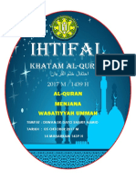 Buku Program Majlis Khatam Al Quran 2017