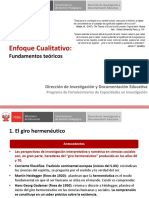 CLT100 Enfoque Cualitativo, Fundamentos