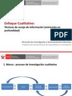 CLT202 Enfoque Cualitativo, Entrevistas en Profundidad