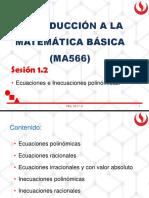 Sesión 1.2ecuaciones e inecuaciones polinómicas(1)