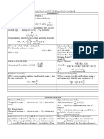 Formula Sheet for Cp It 603