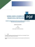 Academic Writing Guide 2009