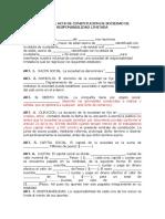 Acta Constitucion Ltda