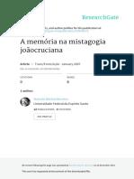A Memória Na Mistagogia Joãocruciana