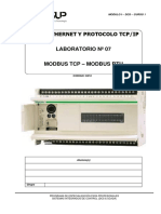Laboratorio-07-DCS-Redes Ethernet TCPIP - Comunicacion Modbus TCP RTUNMJ,K
