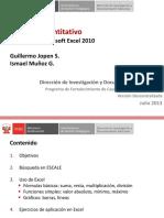 CTT201 Enfoque Cuantitativo, Manejo de Excel 2010