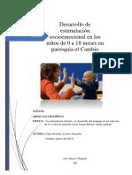 Desarrollo de Estimulacion Socioemocional en niños de 0 a 2 años de edad