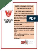 Alerta Informativa DPC CGTP 003-17