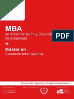 MBA + Maěster en Comercio Internacional