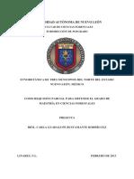 Etnobotánica de Tres Municipios Del Norte Del Estado de Nuevo Leon