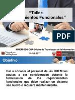 Requerimientos Funcionales Para Las DREM Arequipa v1.0