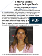 Entrevista a Marta Tantos, Design Manager de Lego Iberia - Plástico