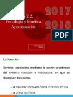 Fonología Tema 2.2 _Fonología y Fonética_. Aproximación
