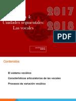 Fonología Tema 4 _Unidades Segmentales_. Las Vocales