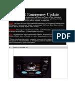 MMI 3G Emergency Update