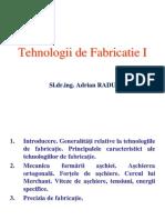 Tehnologii  de fabricatie