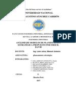 Análisis de Modelos de Planificación Estratégica Propuesto Por Fred r. David