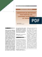 Metástasis Poco Habituales Del Carcinoma Diferenciado de Tiroides