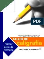 Cuaderno Taller Caligrafia Con Pictogramas Cuadricula