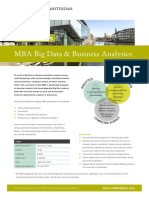 Factsheet Mba Big Data Business Analytics Programme 2017 2019