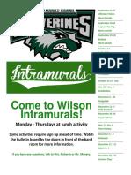 wilson intramurals poster