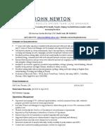 Resume Newton John