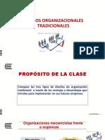Diseños organizacionales tradicionales
